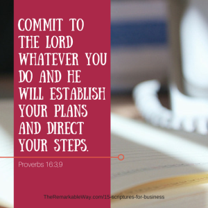 Commit to the Lord what you do and He will establish your plans.